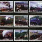 Trains of the World MNH Set of 9 Stamps 1998 Batum