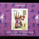 Basketball Olympics Atlanta Michael Jordan MNH Imperf Souvenir Sheet 1996 Mongolia #2246A