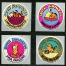 4 Garfield 1978 Vintage Stickers Summer '84 Olympic Events?