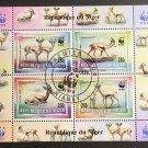 WWF Gazelles CTO Souvenir Sheet 1998 Niger #986b