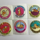 6 Garfield 1978 Vintage Stickers Summer '84 Olympic Events?