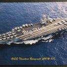 USS Theodore Roosevelt CVN-71 Postcard US Navy Aircraft Carrier Big Stick