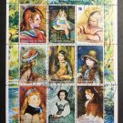 Renoir Paintings of Children CTO Minisheet of 9 Stamps 1998 Niger