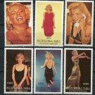 Marilyn Monroe mnh set of 6 stamps Tuva Republic