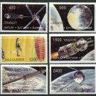Satellites Space MNH Set of 6 Stamps Batum