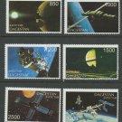 Satellites Space MNH Set of 6 Stamps Dagestan