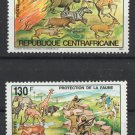 Nature Protection MNH Set of 2 Stamps 1984 Central African Republic #631-2