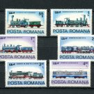 Trains Locomotives Steam Electric MNH 6 Stamps 1979 Romania #2933-8