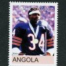 Football Walter Peyton Chicago Bears MNH Stamp Angola