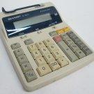 SHARP EL-1801C 12 Digit 2 Color Calculator Printer Tested