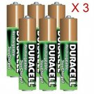 Duracell AAA 6-Pack Pre-Charged Rechargeable Stay Charged 800mAh