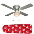 New England Patriots Ceiling Fan w/Light Kit or Blades Only or Ceiling Lamp