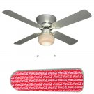 Coke Coca Cola on Red Ceiling Fan w/Light Kit or Blades Only or Ceiling Lamp