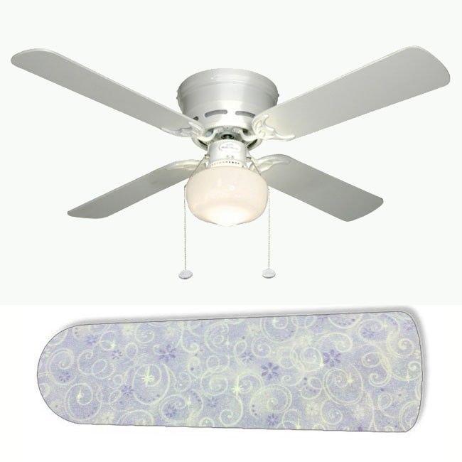 Purple Princess Girls Glitter Swirl Ceiling Fan w/Light Kit or Blades Only