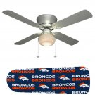 Denver Broncos Ceiling Fan w/Light Kit or Blades Only or Ceiling Lamp