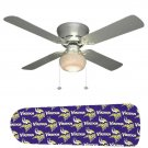 Minnesota Vikings Ceiling Fan w/Light Kit or Blades Only or Ceiling Lamp