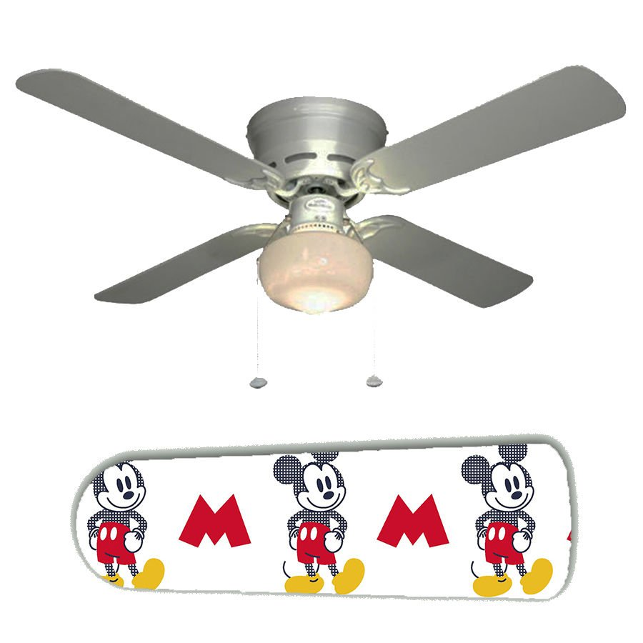 Mickey Mouse Ceiling Fan w/Light Kit or Blades Only or Ceiling Lamp