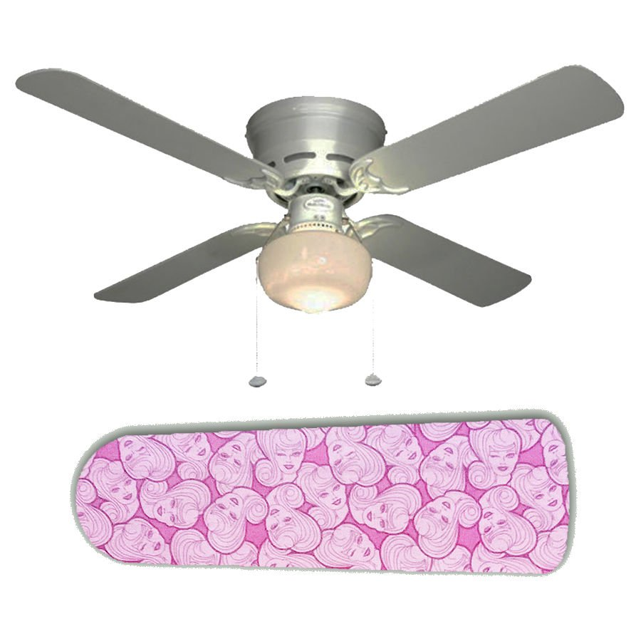 Pink Barbie Ceiling Fan w/Light Kit or Blades Only or Ceiling Lamp