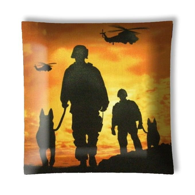 Military Sunset Helicopters Dogs Ceiling Light / Lamp