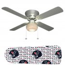 Houston Texans Ceiling Fan w/Light Kit or Blades Only or Ceiling Lamp