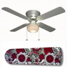 Sabrina Red and Black Ceiling Fan w/light kit or blades only or ceiling lamp