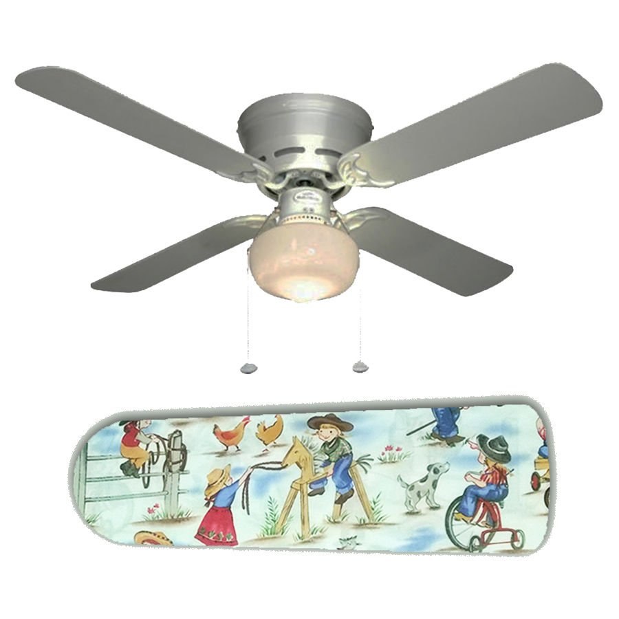 Girl's Rodeo Kids Cowgirl Ceiling Fan w/light kit or blades only or ceiling lamp