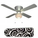 Trendy Black and White Ceiling Fan w/Light Kit or Blades Only or Ceiling Lamp