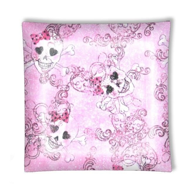 Cute Girly Pink Skulls Ceiling Lamp or Ceiling Fan w/Light or Blades Only
