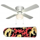 Martial Arts Golden Dragon Fan w/light or blades only or ceiling lamp