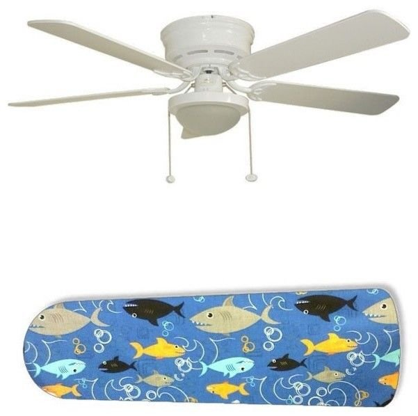 Fish Frenzy Swimming Sharks Ceiling Fan w/light or blades only or ceiling lamp