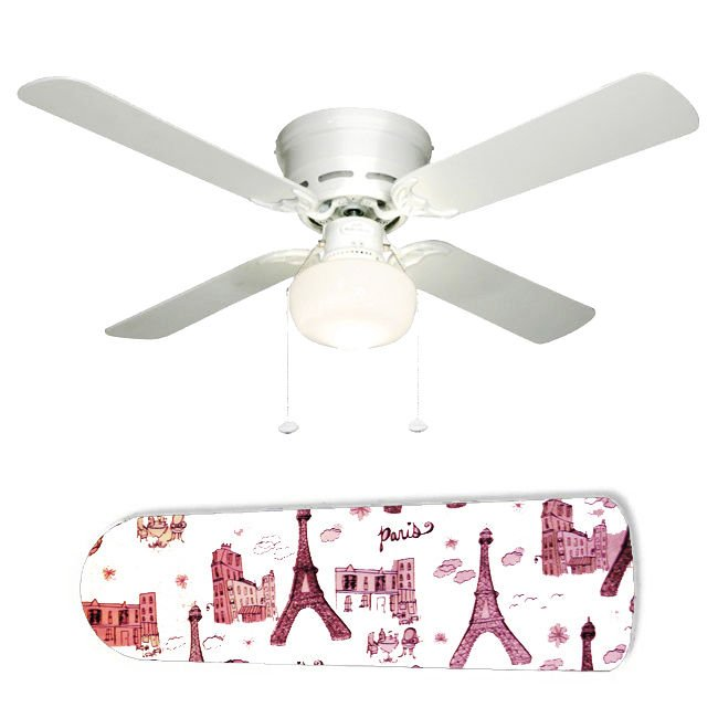Paris Glitter Ceiling Fan w/Light Kit or Blades Only or Ceiling Lamp