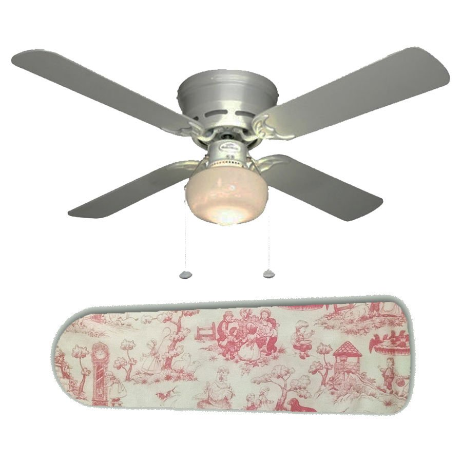 Pink Toile Nursery Rhymes Ceiling Fan w/light kit or blades only or ceiling lamp