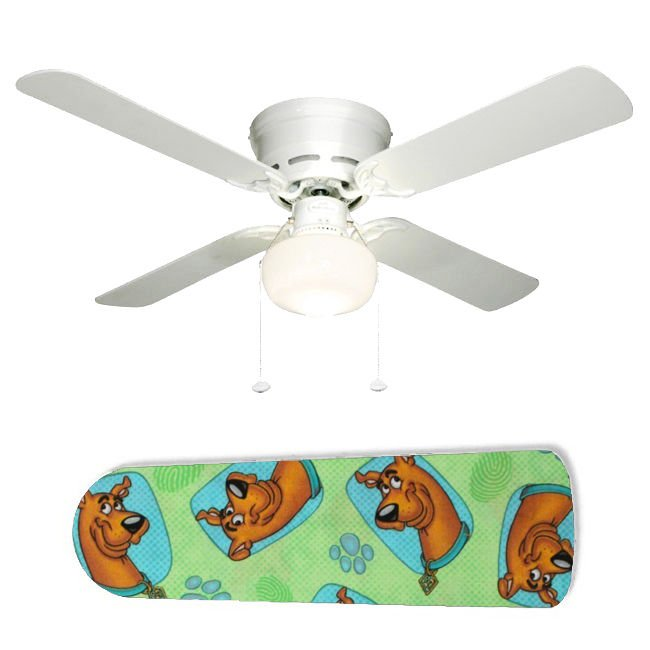 Scooby Dooby Doo Ceiling Fan w/Light Kit or Blades Only or Ceiling Lamp