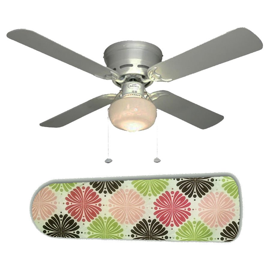 Pink Brown Green Designer Ceiling Fan w/light or blades only or ceiling lamp