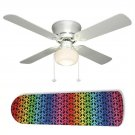 Rainbow Peace Sign Ceiling Fan w/light kit or blades only or ceiling lamp