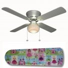 Fairytale Princess Castle Ceiling Fan w/light or blades only or ceiling lamp