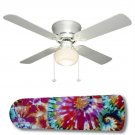 Groovy Hippie Tie Dye Ceiling Fan w/Light Kit or Blades Only or Ceiling Lamp