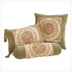 Green Velvet Cushion Set Of 3 -35744