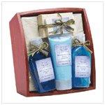 Lavender & Sage Bath Set On Tray   36397