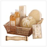 Ginger White Tea Set-basket  36403