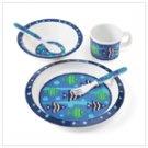 Boy's Blue Fish Dinnerware Set
