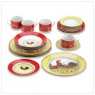 Country Rooster Dinnerware Set  38130