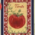 "DMC Needlepoint Canvas Pattern ""Tomato"" Pearl cotton Tapestry wool embroidery floss"