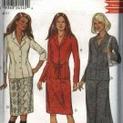 New Look Sewing Pattern 6007 Misses Size 8-18 Straight Long Short Skirts Button Front Jacket Shirt