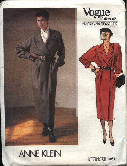 Vogue Sewing Pattern 1461 Misses Size 10 Anne Klein Wrap Dress