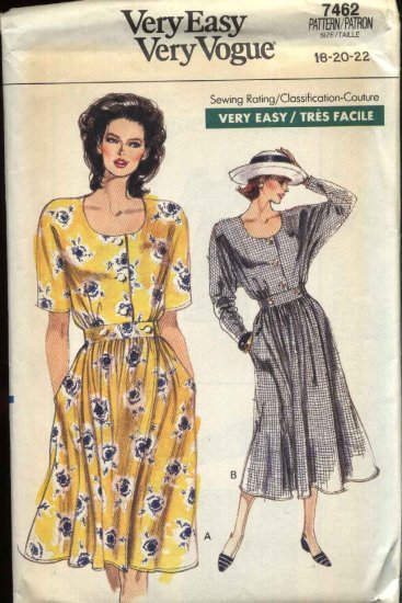 Vogue Sewing Pattern 7462 Misses Size 18-22 Easy Wrap Dress