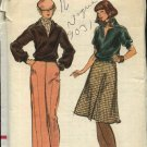 Vogue Sewing Pattern 9031 Misses Size 16 Blouson Top Pants A-Line Skirt