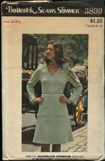 Butterick Sewing Pattern 3899 Women�s Plus Size 24 ½ Knit Long Sleeve Dress