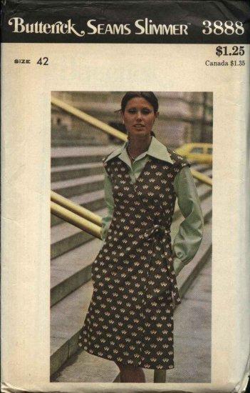 Butterick Sewing Pattern 3888 Women�s Plus Size 24W (42) Seams Slimmer Wrap Front Jumper