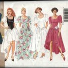Retro Butterick Sewing Pattern 3846 Misses Size 6-10  Formal Short LongDress Evening Gown